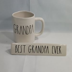 Rae Dunn Grandpa Mug and Best Grandpa Ever Plaque